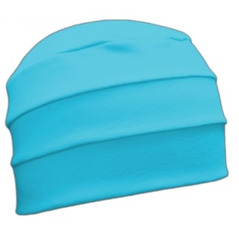 Petite Turquoise 3 Seam Hat/Turban in 100% Cotton Jersey