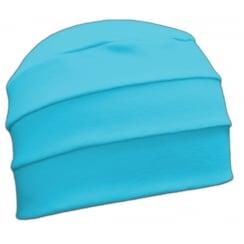 Petite Turquoise 3 Seam Hat/Turban in 100% Cotton Jersey
