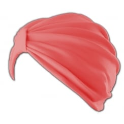Petite Vicky Coral Pleated Turban 100% Cotton Jersey