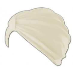 Petite Vicky Cream Pleated Turban 100% Cotton Jersey