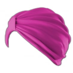 Petite Vicky Fuschia Pleated Turban 100% Cotton Jersey