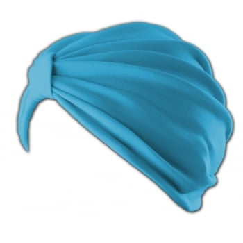 Petite Vicky Turquoise Pleated Turban 100% Cotton Jersey