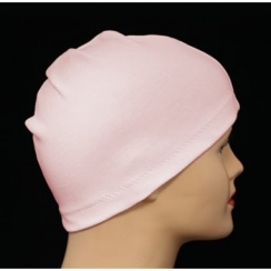 Pink 100% Cotton Jersey Head Cap