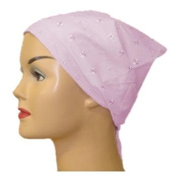Pink Eyelet Head Tie Scarf