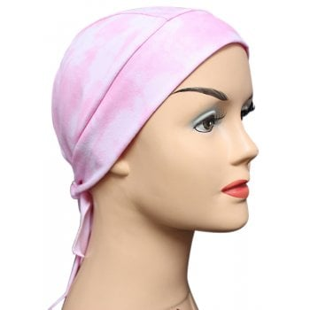Pink Tie Dye Bandana 100% Cotton Jersey