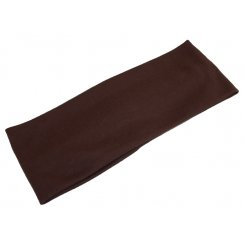 Plain Brown 100% Cotton Jersey Extra Wide 10cm Headband