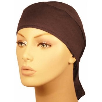 Plain Chocolate Brown Deluxe No Tie Bandana 100% Cotton