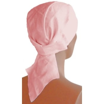 Plain Light Pink Deluxe No Tie Bandana 100% Cotton