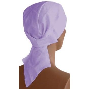 Plain Lilac Deluxe No Tie Bandana 100% Cotton