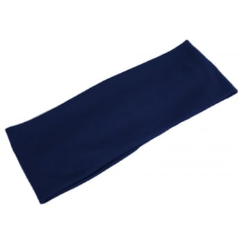Plain Navy 100% Cotton Jersey Extra Wide 10cm Headband