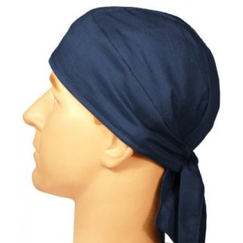 Plain Navy Large Tie Bandana 100% Cotton
