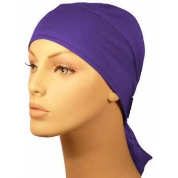 Plain Purple Deluxe No Tie Bandana 100% Cotton