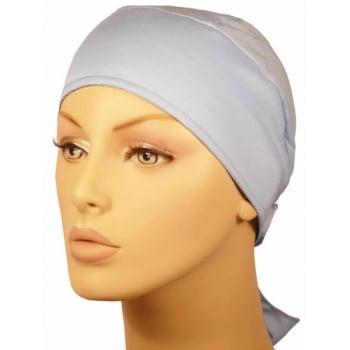 Plain Sky Blue Deluxe No Tie Bandana 100% Cotton