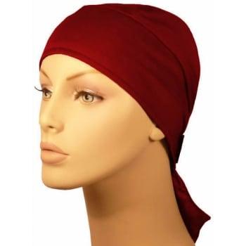 Plain Vino Red Deluxe No Tie Bandana 100% Cotton