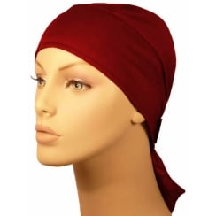Plain Vino Red Deluxe No Tie Bandana 100% Cotton