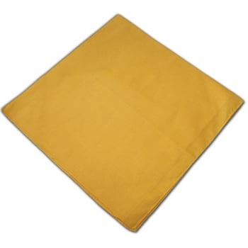 Plain Yellow Cotton Bandana