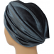 Pleated Velour Turban Grey
