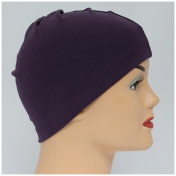 Plum 100% Cotton Jersey Head Cap