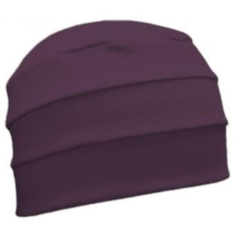 Plum 3 Seam Hat/Turban In 100% Cotton Jersey