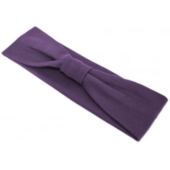 Plum Cosy Headband 100% Cotton Jersey