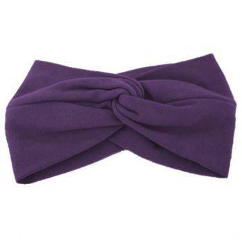 Plum Cotton Jersey Twist Wrap