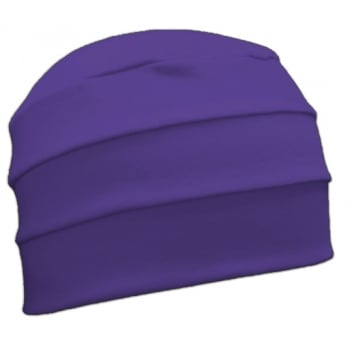 Purple 3 Seam Hat/Turban In 100% Cotton Jersey