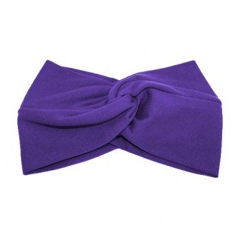 Purple Cotton Jersey Twist Wrap