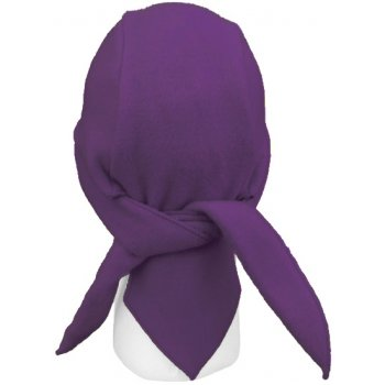 Purple Fleece Hi-Fashion Tie Bandana