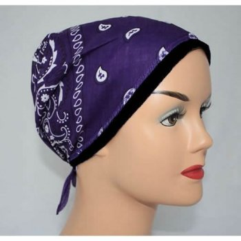 Purple Jersey Cap Bandana 100% Cotton