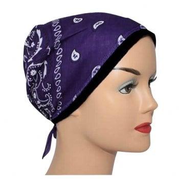 Purple Jersey Cap Bandana 100% Cotton