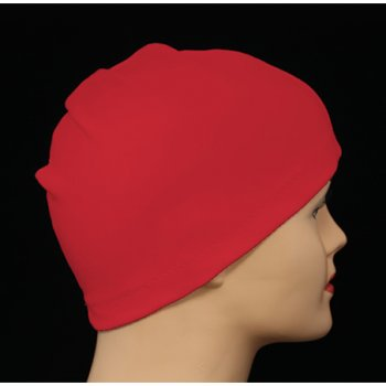 Red 100% Cotton Jersey Head Cap