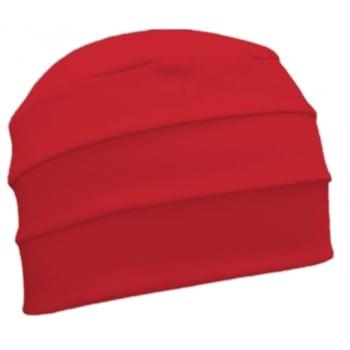 Red 3 Seam Hat/Turban In 100% Cotton Jersey