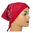 Red Jersey Cap Bandana 100% Cotton