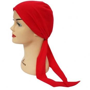 Red Lightweight 100% Cotton Jersey Tie Scarf