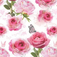 Roses And Butterflies Gift Wrap