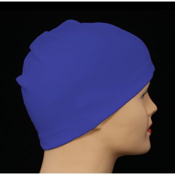 Royal Blue 100% Cotton Jersey Head Cap