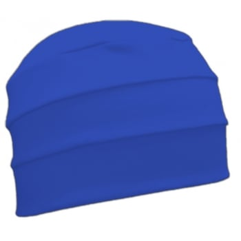 Royal Blue 3 Seam Hat/Turban In 100% Cotton Jersey