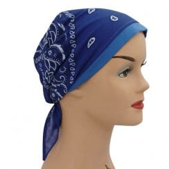Royal Blue Jersey Cap Bandana 100% Cotton