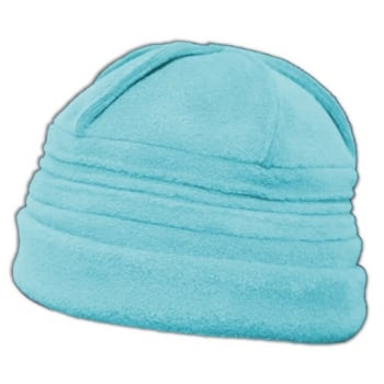 Sally Fleece Hat In Aqua Blue