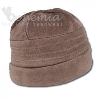 Sally Fleece Hat In Brown
