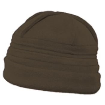 Sally Fleece Hat In Chocolate Brown