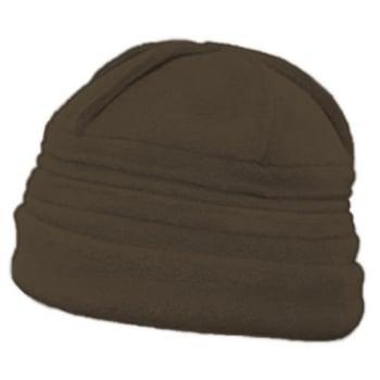 Sally Fleece Hat In Chocolate Brown