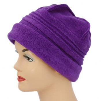Sally Fleece Hat In Purple