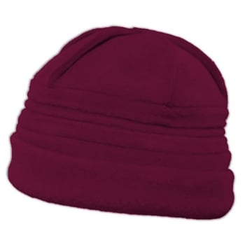 Sally Fleece Hat In Vino Red