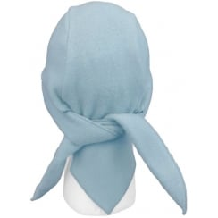 Sky Blue Fleece Hi-Fashion Tie Bandana