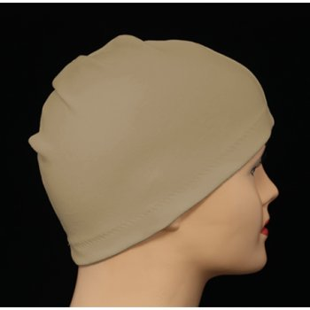 Tan 100% Cotton Jersey Head Cap