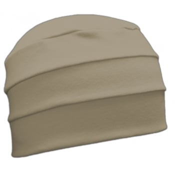 Tan 3 Seam Hat/Turban In 100% Cotton Jersey