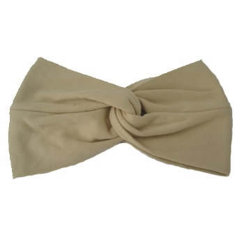 Tan Cotton Jersey Twist Wrap