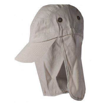 Tan Cotton Legionnaires Style Summer Visor Hat