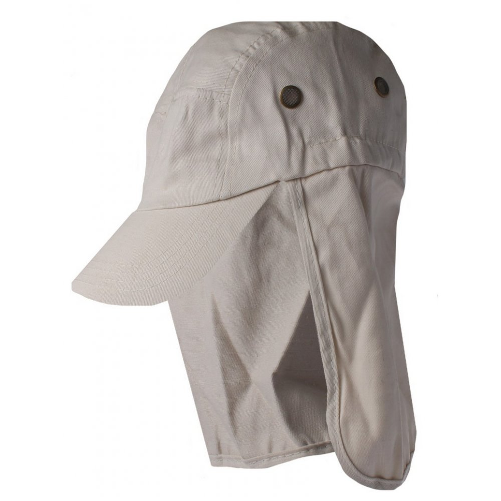 Tan Cotton Legionnaires Style Summer Visor Hat - Newsboy Hat from ... 05af9e9feb7a